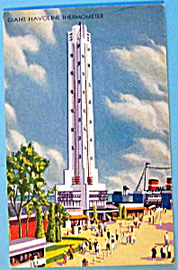 Giant Havoline Thermometer Postcard (Chicago Fair) (Image1)