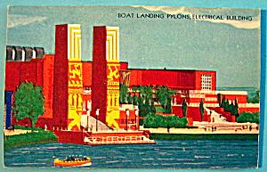 Boat Landing Pylons Electrical Building Postcard-Fair (Image1)