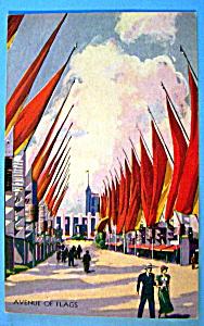 Avenue Of Flags Postcard (1933 Century Of Progress) (Image1)