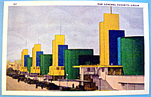 General Exhibits Postcard (1933 Century Of Progress) (Image1)