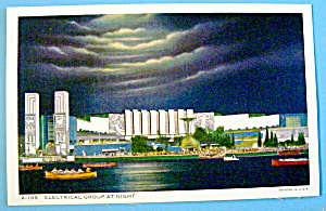 Electrical Group At Night Postcard-century Of Progress