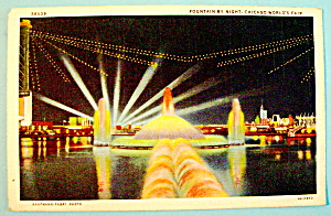 Fountain By Night Postcard (Chicago World's Fair) (Image1)