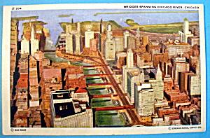 Bridges Spanning Chicago River Postcard (Chicago Fair) (Image1)