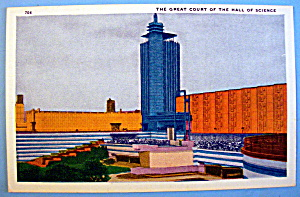 Great Court Hall Of Science Postcard-chicago World Fair
