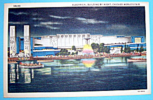 Electrical Building By Night Postcard (Chicago Fair)