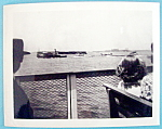 Click here to enlarge image and see more about item 10000: 1939 Photograph Of A View From Ferry in New York Harbor