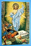 Click here to enlarge image and see more about item 10027: Wesotego Alleluja (Easter) Postcard