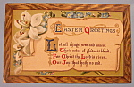 Click here to enlarge image and see more about item 10028: Easter Greetings Postcard with Written Note