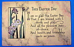 Click to view larger image of This Easter Day Postcard (Image1)