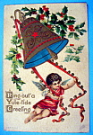 Click here to enlarge image and see more about item 10055: Yule Ride Greeting Postcard