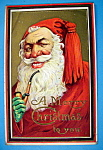 Click to view larger image of Merry Christmas To You Postcard w/Smiling Santa Claus (Image1)