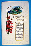 Click here to enlarge image and see more about item 10156: I Wish You Prosperity Postcard