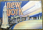 New York by Night Postcard Folder