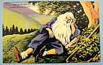 Click here to enlarge image and see more about item 10201: Rip Van Winkle Postcard