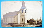 Click here to enlarge image and see more about item 10218: Lutheran Church Montaque Michigan Postcard