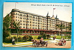 Chicago Beach Hotel Postcard-Chicago