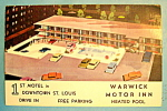 Click here to enlarge image and see more about item 10234: Warwick Motor Inn, St. Louis Postcard