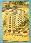 Click here to enlarge image and see more about item 10236: The Tower, Miami Beach, Florida Postcard