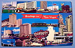 Click to view larger image of The Strip Hotels, Las Vegas Postcard (Image1)