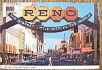 Click to view larger image of Reno Arch & Virginia Street, Las Vegas, Nevada Postcard (Image1)