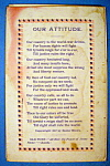 Click here to enlarge image and see more about item 10267: Our Attitude Postcard