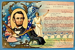 Click here to enlarge image and see more about item 10274: Lincoln Centennial Souvenir Postcard