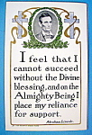 Click here to enlarge image and see more about item 10275: Abraham Lincoln Postcard (Lincoln Quote)