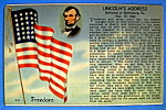 Click here to enlarge image and see more about item 10277: Lincoln's Address Postcard