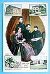 Click here to enlarge image and see more about item 10279: Abraham Lincoln & His Family Postcard (Family Portrait)