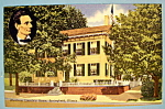 Click here to enlarge image and see more about item 10280: Abraham Lincoln's Home Postcard (Home In Springfield)