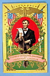 Click here to enlarge image and see more about item 10282: Abraham Lincoln's Centennial Anniversary Postcard-Emb.
