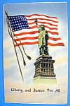 Click to view larger image of Liberty & Justice For All Postcard (Image1)