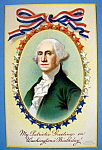 Washington Birthday Greetings Postcard (Stars in Frame)