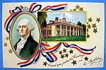 Washington Birthday Greeting Postcard-Washington House