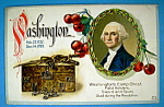 Washington's Camp Chest Postcard-Embossed