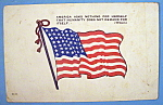 Click here to enlarge image and see more about item 10310: America Flag Postcard