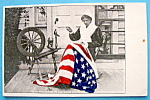 Click here to enlarge image and see more about item 10317: Betsy Ross & The United States Flag Postcard