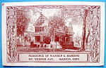 Click to view larger image of Residence of Warren G. Harding Postcard (Image1)