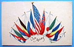 Click to view larger image of Our Allies Flags Postcard (Image1)