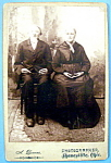 Click here to enlarge image and see more about item 10343: American Gothic Cabinet Photo - Ohio Frontier Couple