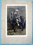 Click here to enlarge image and see more about item 10344: Horse Play - Cabinet Photo Of Child On A Pony