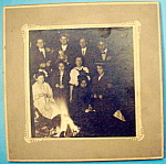 Click here to enlarge image and see more about item 10346: By The Fire - Cabinet Photo of Campers By A Fire