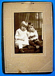Click here to enlarge image and see more about item 10347: Baby Brother - Cabinet Photo Girl & Her Baby Brother