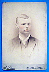 Click here to enlarge image and see more about item 10348: Rosy Cheeks - Tinted Cabinet Photo of a Young Man