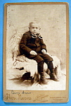 Click here to enlarge image and see more about item 10351: I Don't Feel So Good - Cabinet Photo of a Little Boy