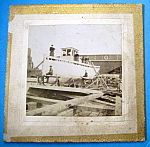 Click here to enlarge image and see more about item 10354: Ship Builders At Work - Cabinet Photo