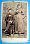 Click here to enlarge image and see more about item 10357: He's My Man - Cabinet Photo of a Serious Couple
