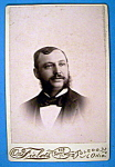 Click here to enlarge image and see more about item 10359: Bearded - Almost - Cabinet Photo of a Man With Whiskers