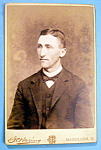 Click here to enlarge image and see more about item 10361: Looking Forward - Cabinet Photo of a Young Man