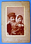 Click here to enlarge image and see more about item 10362: Together Forever - Cabinet Photo of Two Children
